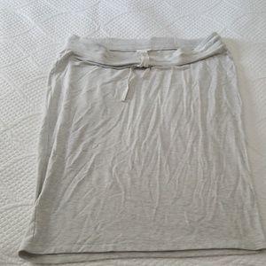 Drawstring Loft outlet cotton pencil skirt
